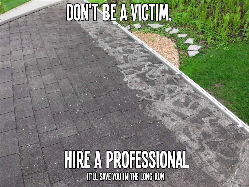 roof cleaning fail